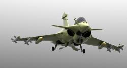 مدل آماده هواپیما dassault rafale در فرمت STEP